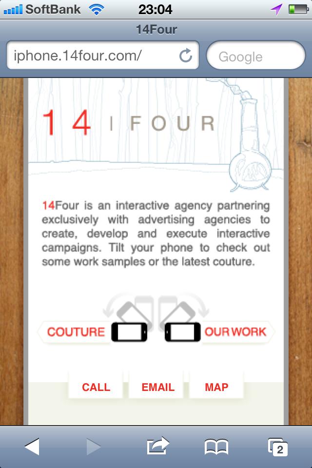 iPhoneWebデザイン 14Four