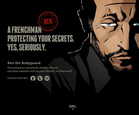 PC Webデザイン Ben the Bodyguard