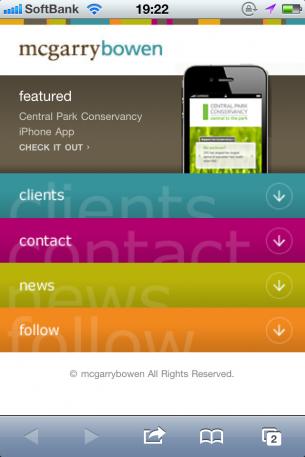 iPhoneWebデザイン mcgarrybowen