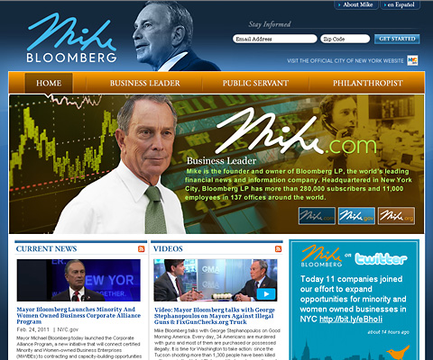 PC Webデザイン Mike Bloomberg