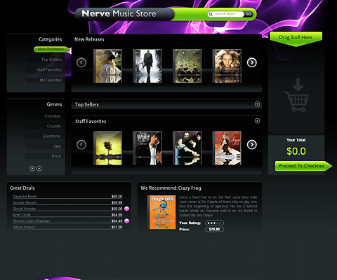 PC Webデザイン Nerve Music Store