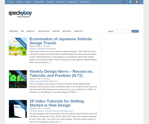 PC Webデザイン Speckyboy Design Magazine