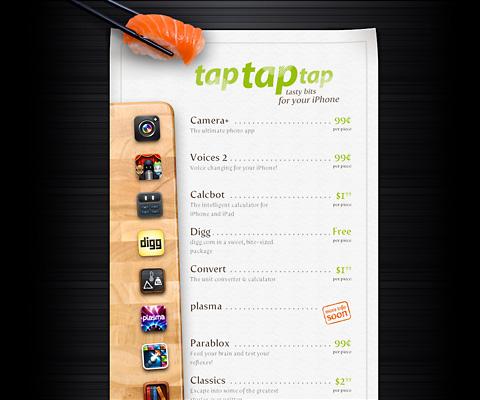 PC Webデザイン tap tap tap
