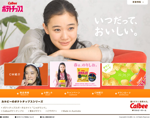PC Webデザイン ポテトチップス|カルビー株式会社