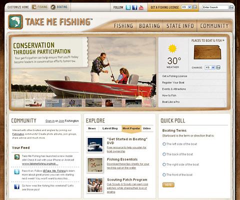 PC Webデザイン Take Me Fishing