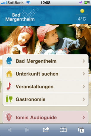 iPhoneWebデザイン Bad Mergentheim