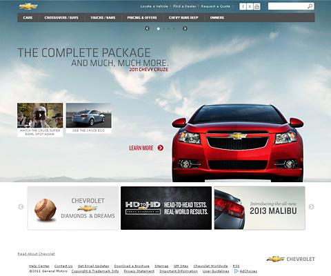 PC Webデザイン Chevrolet