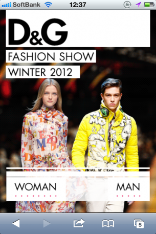 D&G Fashion Show Winter 2011-2012のサイト