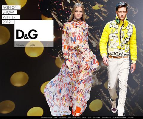 PC Webデザイン D&G Fashion Show Winter 2011-2012