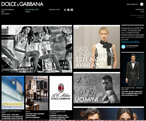 PC Webデザイン Dolce&Gabbana Official Site