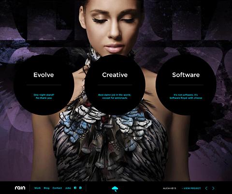 PC Webデザイン Rain Interactive