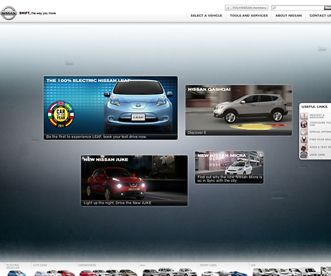 PC Webデザイン Nissan cars