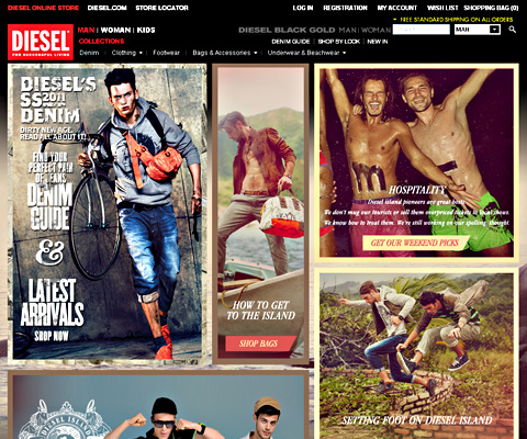 PC Webデザイン Diesel Online Store