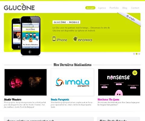 PC Webデザイン GLUCONE