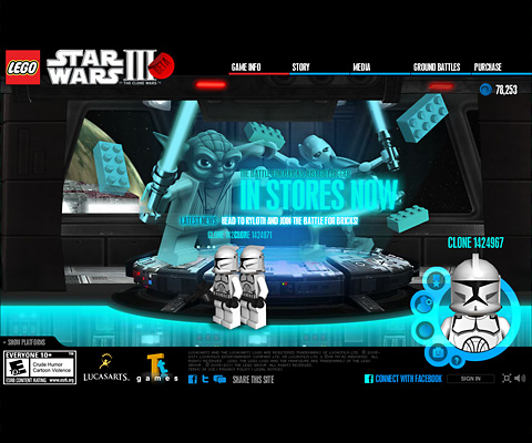 PC Webデザイン LEGO® Star Wars III: The Clone Wars
