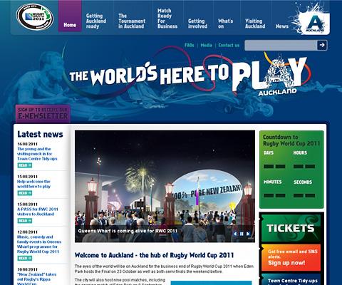 PC Webデザイン Auckland 2011