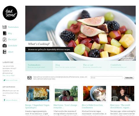 PC Webデザイン Food Sense