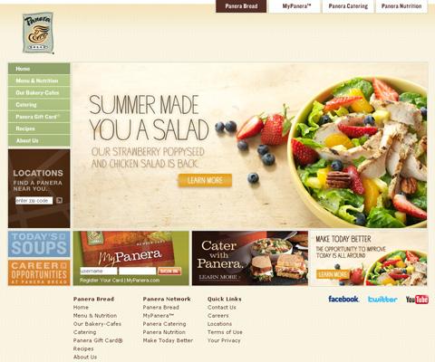PC Webデザイン Panera Bread