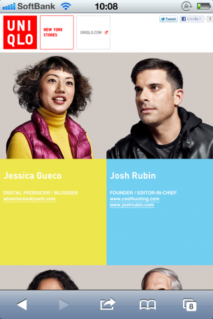 UNIQLO – VOICES OF NEW YORKのサイト