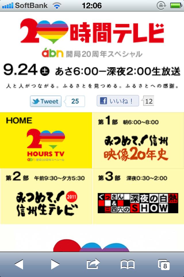 20時間テレビ abn開局20周年スペシャル