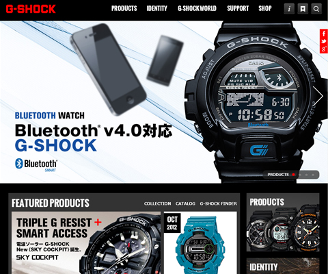 PC Webデザイン G-SHOCK - CASIO