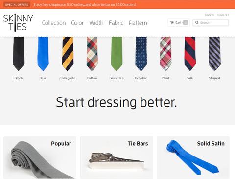 PC Webデザイン Skinny Ties | Nothing but skinny ties.
