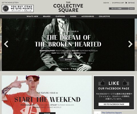 PC Webデザイン THE COLLECTIVE SQUARE