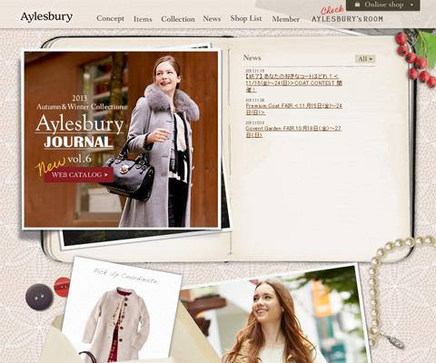 PC Webデザイン Aylesbury アリスバーリー公式サイトAylesbury