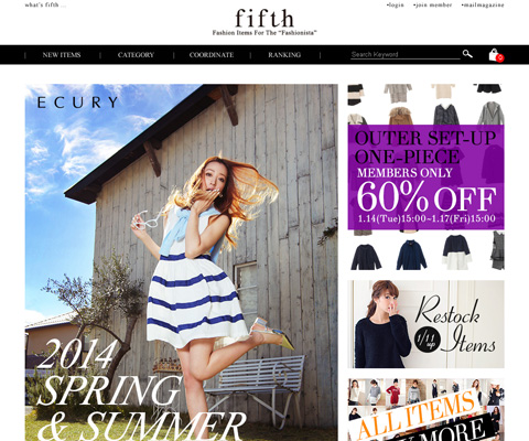 PC Webデザイン ファッション通販なら低価格でトレンドアイテムが買える「fifth(フィフス)」