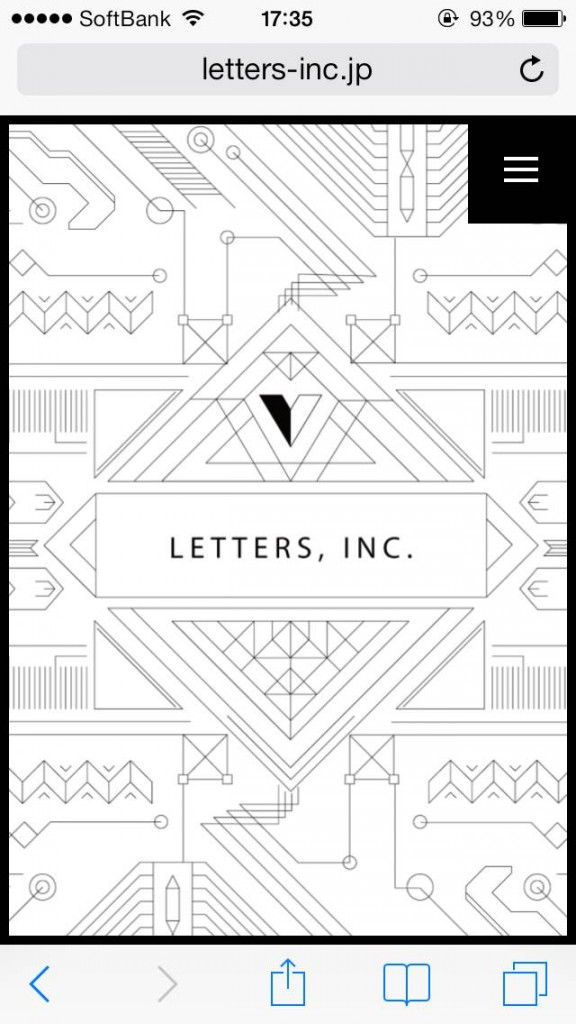iPhone Webデザイン LETTERS, INC.