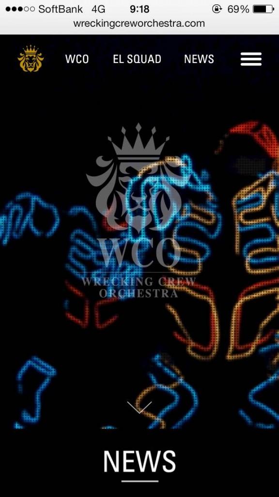 iPhone Webデザイン WRECKING CREW ORCHESTRA / EL SQUAD