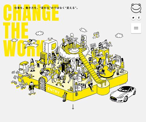 PC Webデザイン Change the Work|RaNa design associates, inc.(株式会社ラナデザインアソシエイツ)